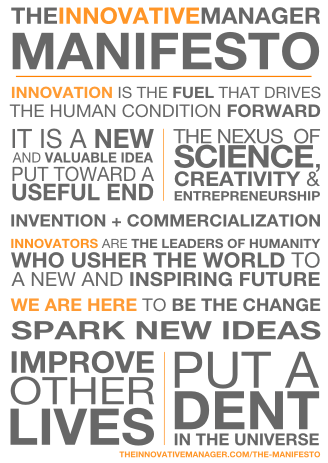 The Innovative Manager Manifesto