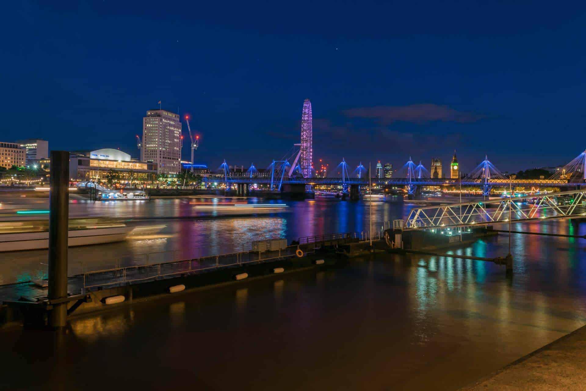 London Eye - Thames Boats Moving - Long exposure