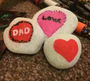 valentines love stones