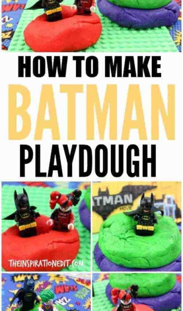 How to make amazing batman lego playdough, playdough recipe, playdough tutorial, batman lego movie