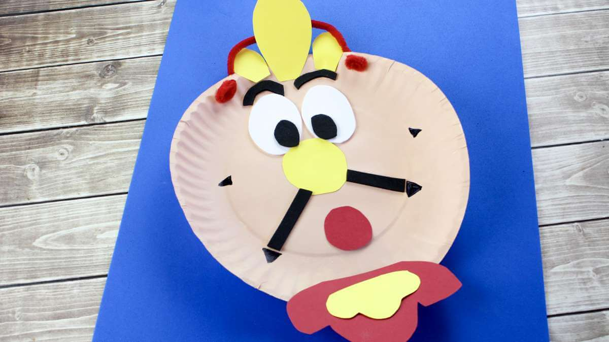 Beauty and the beast paper plate Craft idea for Kids