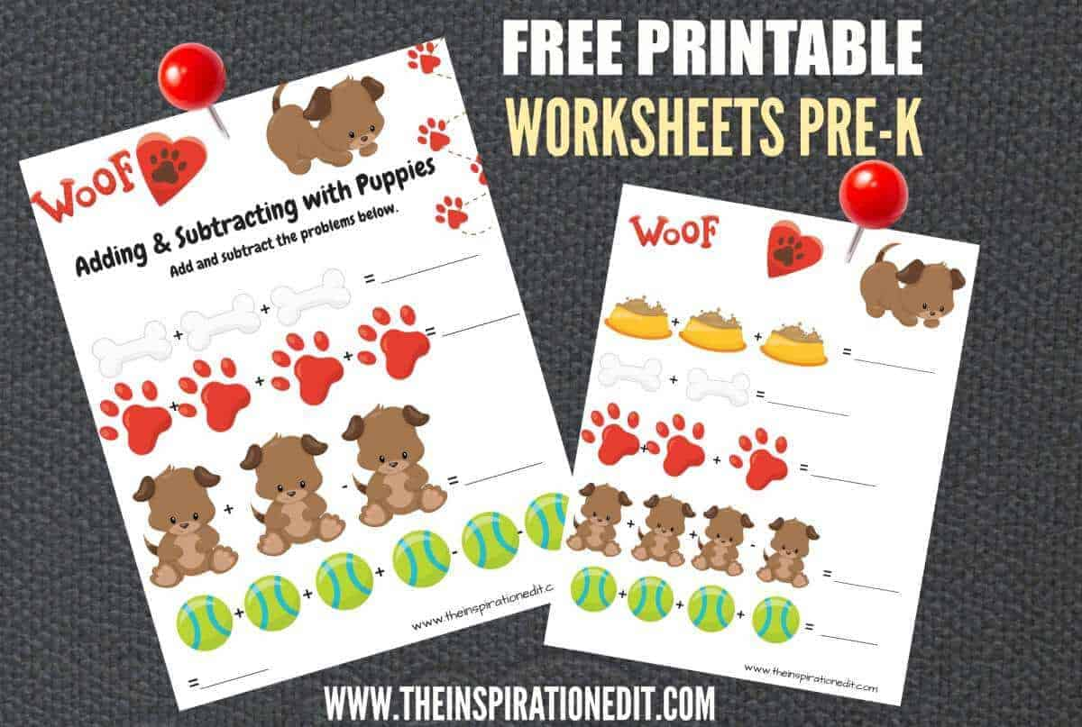 Free Dog Maths Worksheets For 3-5 Year Olds · The