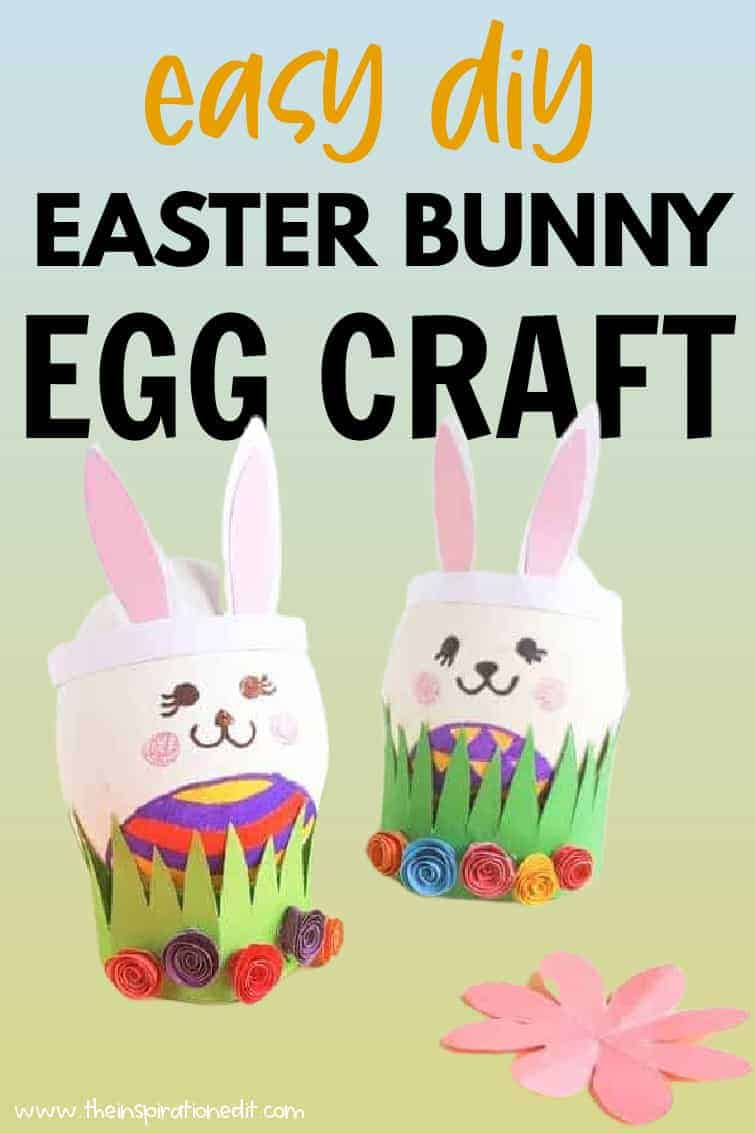 Cut cups and pyramids from an egg carton. Easter Bunny Eggs Craft For Kids The Inspiration Edit