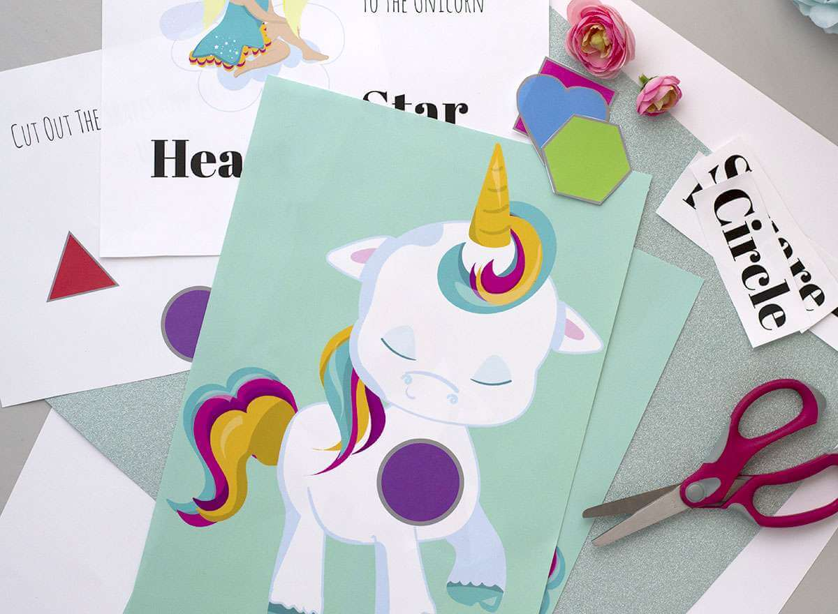 Unicorn Shapes Printable The Inspiration Edit