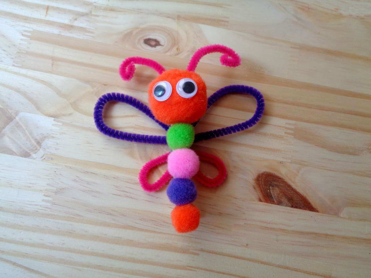 Clothes Pin Butterfly Magnet Craft For Kids