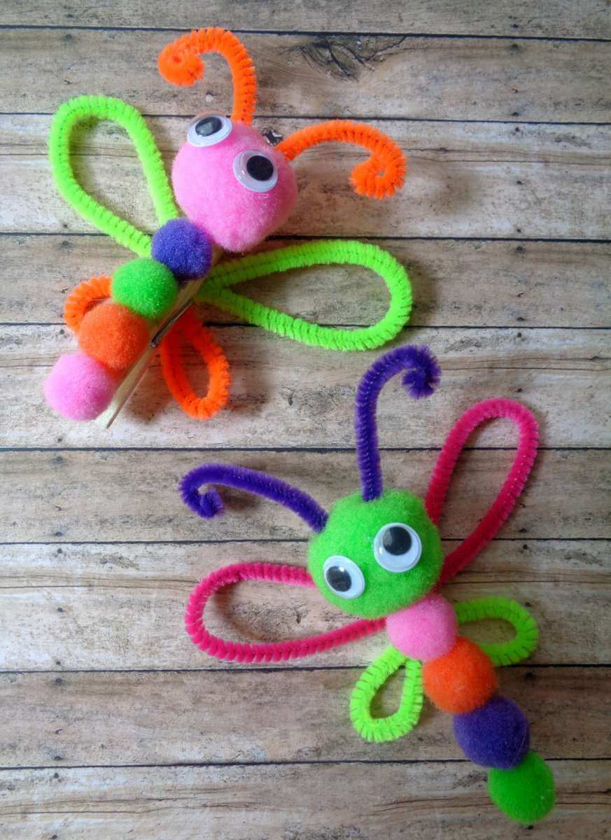 Clothes Pin Butterfly Magnet Craft For Kids 183 The