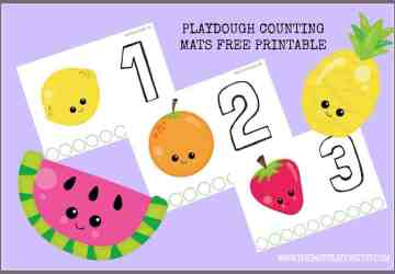 PLAYDOUGH counting mat