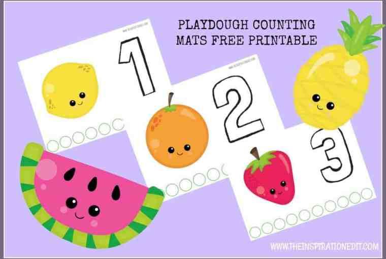 PLAYDOUGH counting mat