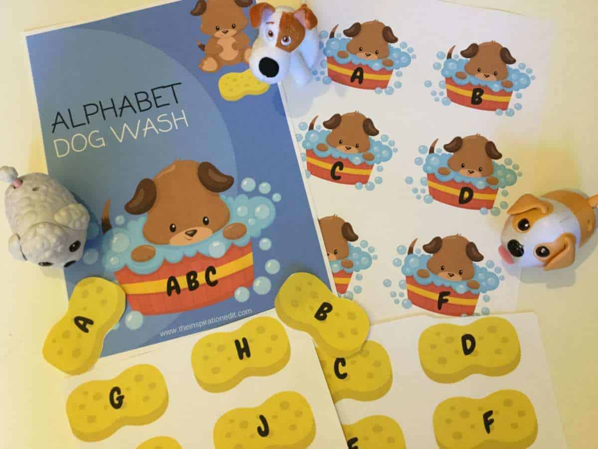 Alphabet Dog Wash Free Phonics Printable The Inspiration