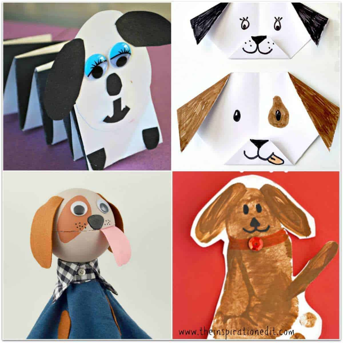 13 Super Cute Dog Crafts Kids Will Love · The Inspiration Edit