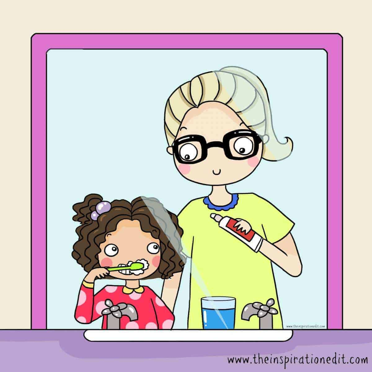 teach kids to brush teeth