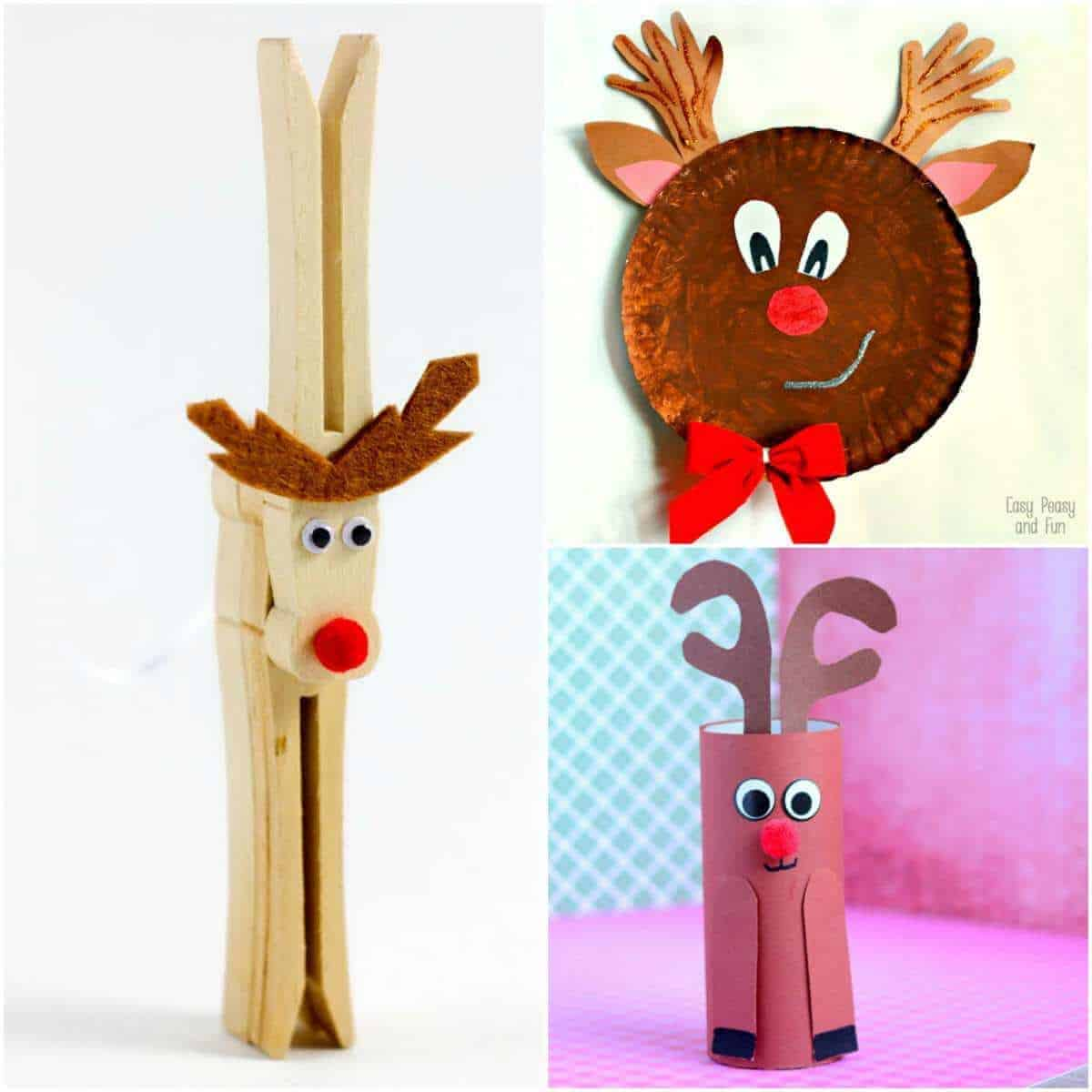 21 simple and easy reindeer crafts for kids the for Reindeer project