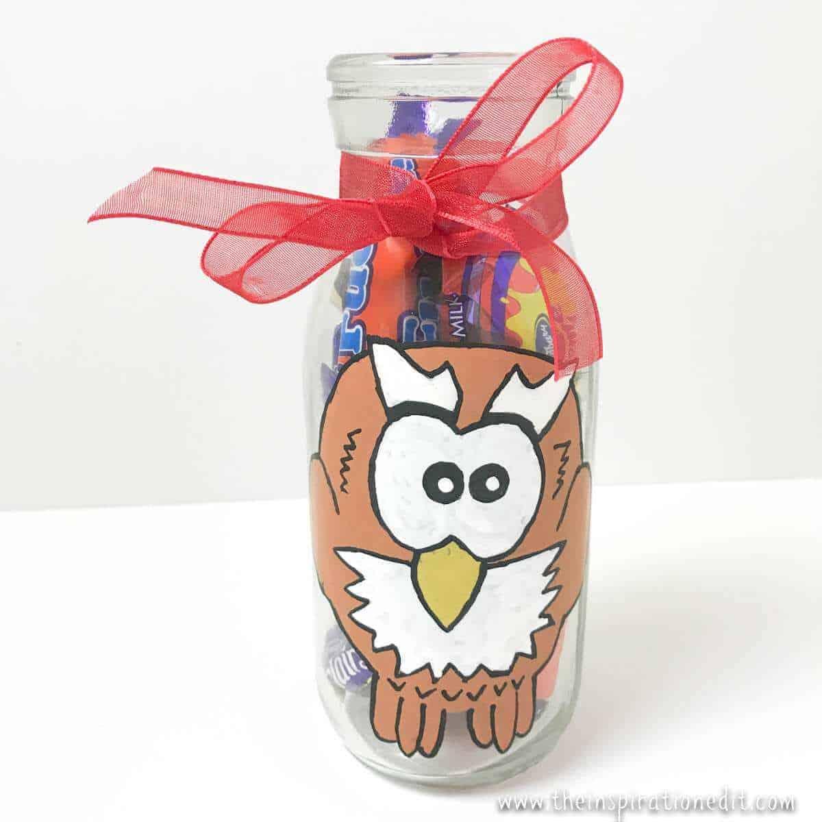 Owl Milk Bottle Craft