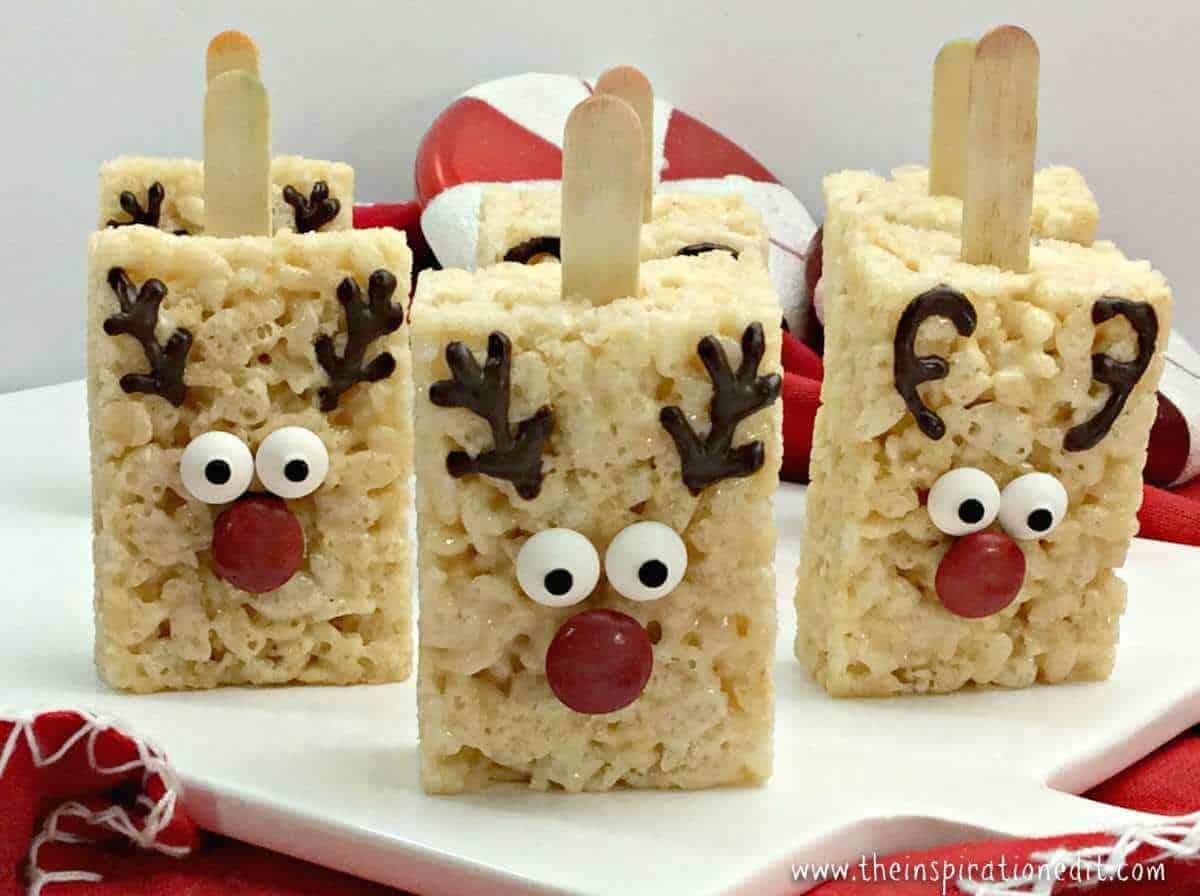 Rudolph Reindeer Rice Crispy Treats The Inspiration Edit