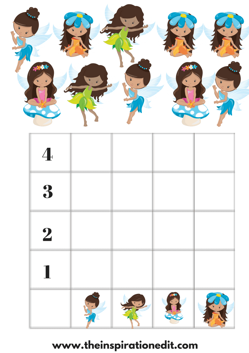 Fairy Count Maths Worksheet