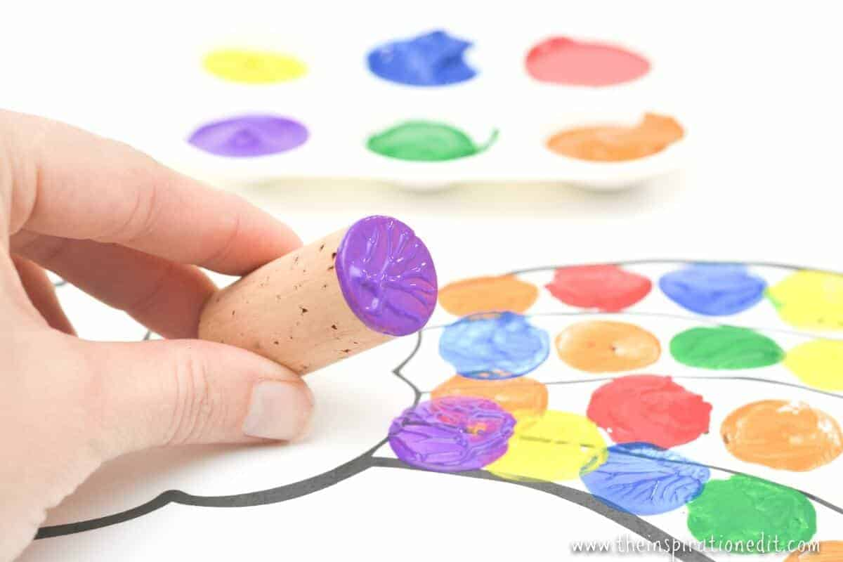 Painting Rainbows With Cork For Preschoolers The Inspiration Edit