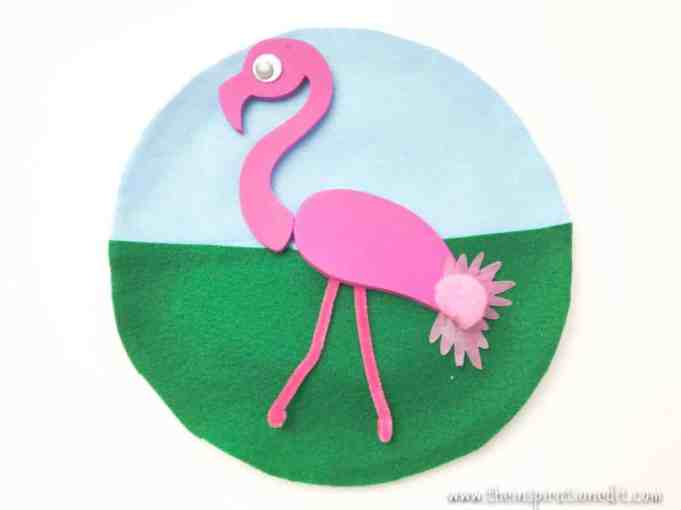 Flamingo Paper Plate Craft