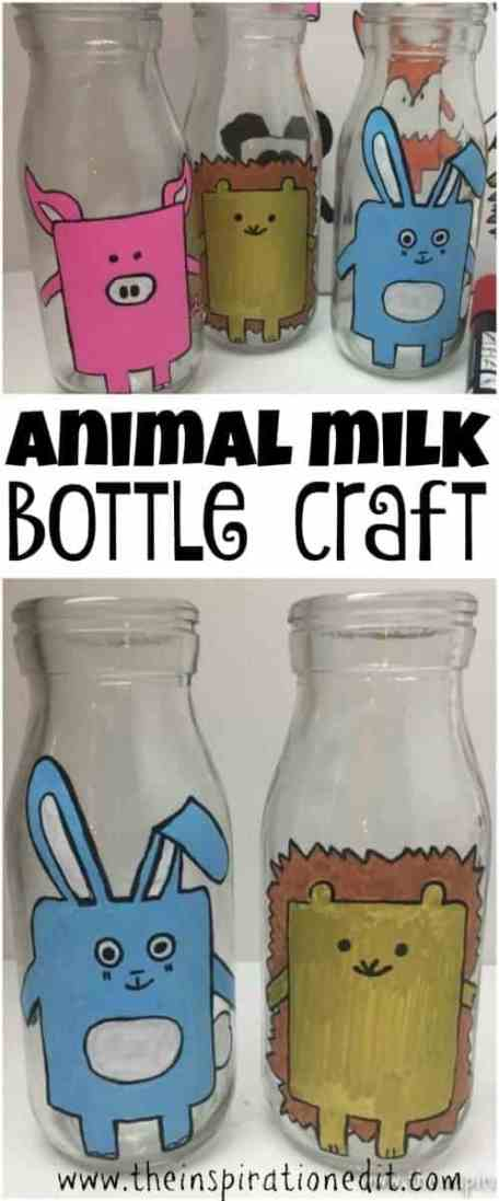 Hedgehog Craft Milk Bottle Craft
