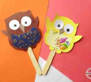 owl popsicle craft