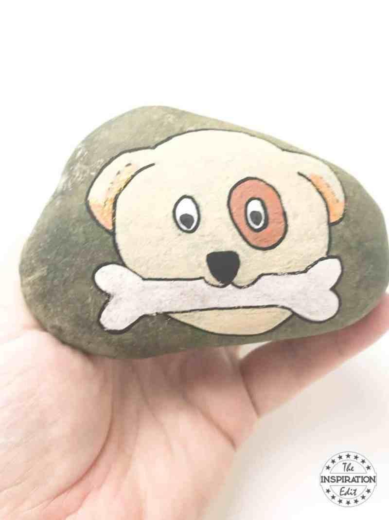 dog rock stone
