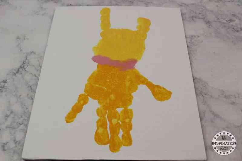 fox in socks handprint canvas