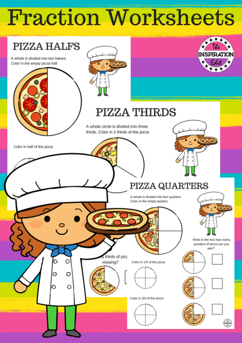 small resolution of Pizza Fraction Worksheets For Kids · The Inspiration Edit