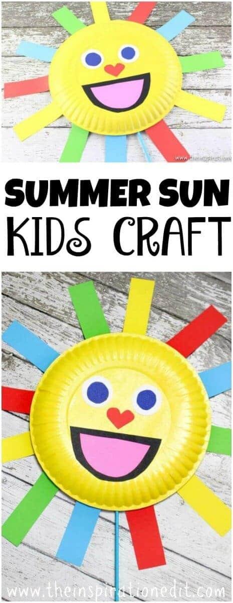 Summer Sun Paper Plate  sc 1 st  The Inspiration Edit & Summer Sun Paper Plate Craft Puppet · The Inspiration Edit