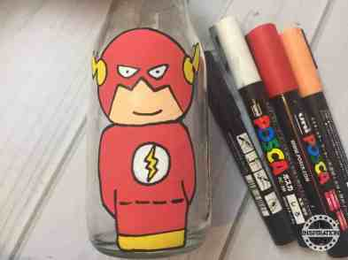 The Flash Avengers Bottle Painting For Kids
