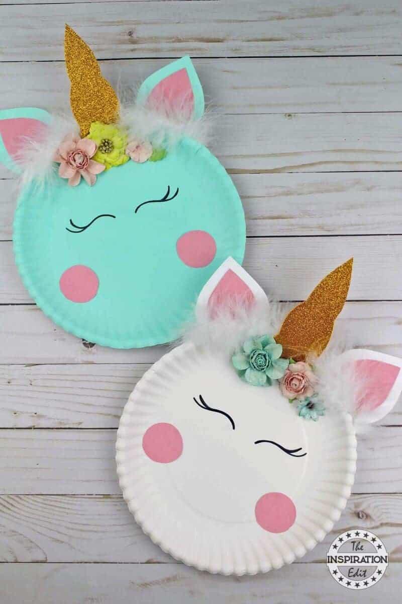Paper Plate Crafts Easy Unicorn Craft Idea The Inspiration Edit