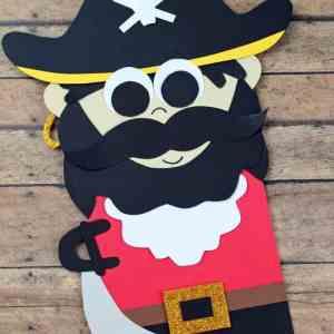 Captain Hook Paper Bag Pirate Puppet