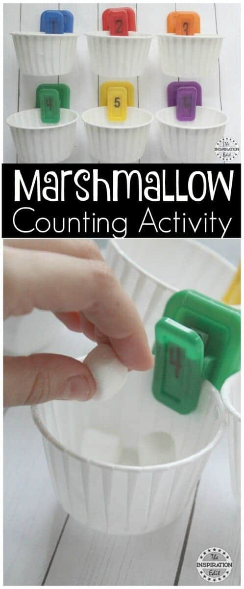 Marshmallow counting Activity