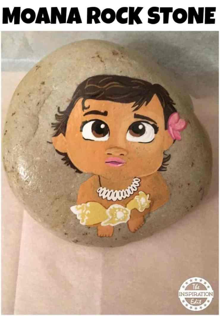 STONE 1 - Disney Moana Rock Stone Painting