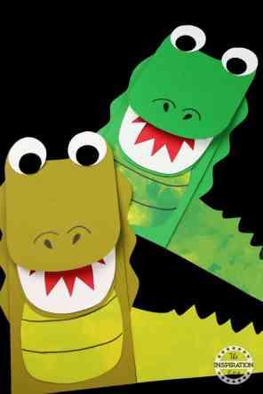 alligator puppet alligator craft for kids