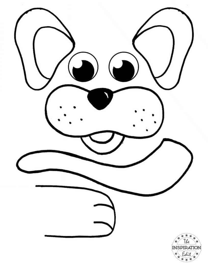 Super Cute Paper Bag Dog Puppet · The Inspiration Edit