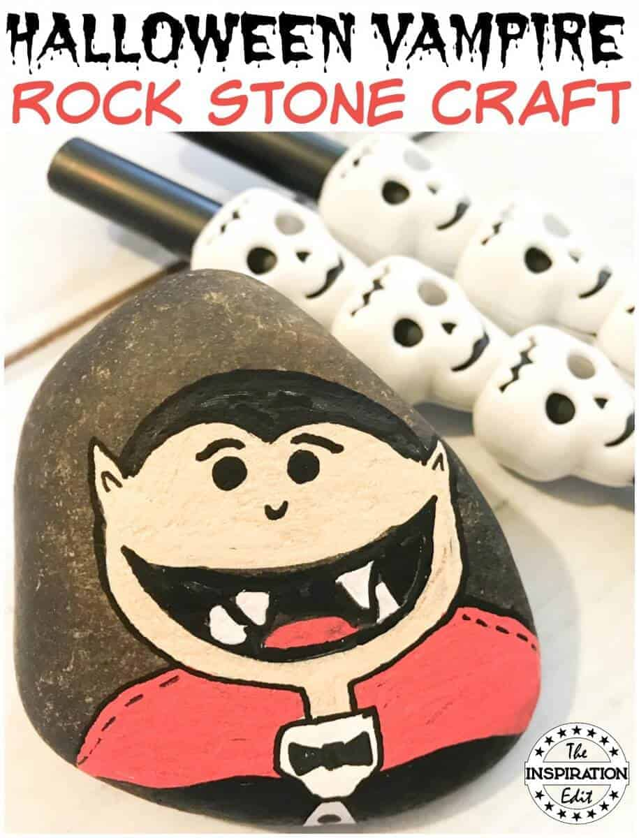 Halloween Vampire Craft Rock Stone