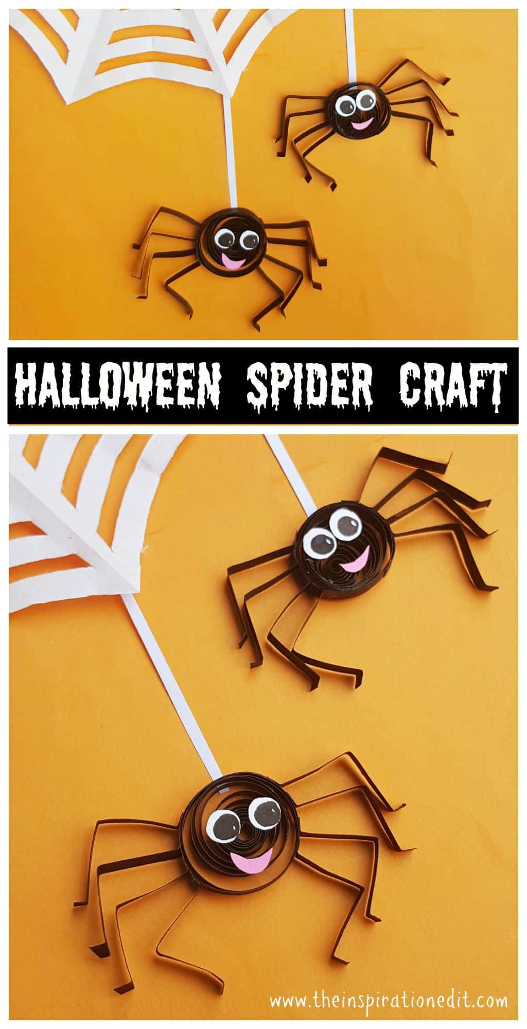 Halloween Craft Quilled Spider Project For Kids The