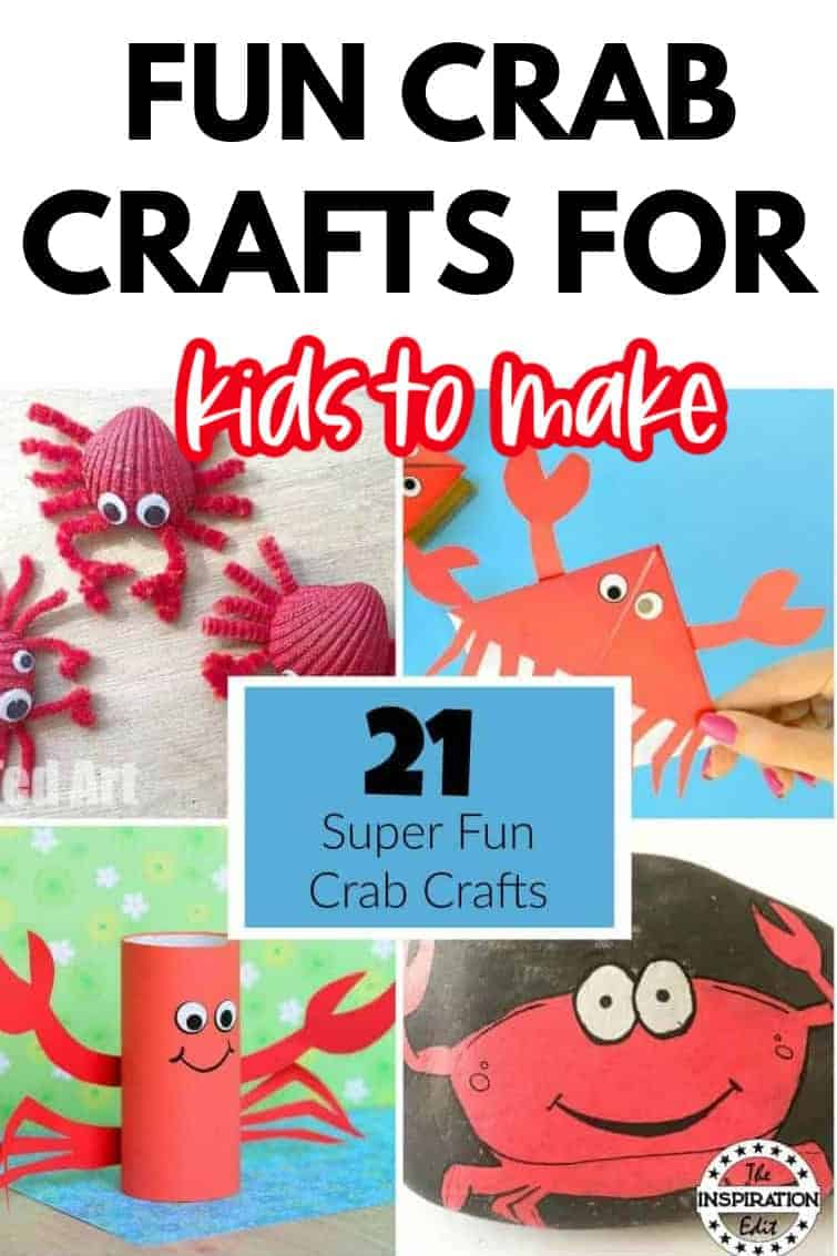 Select 2 different shades of orange colored craft papers for the crab papercraft. 21 Crab Craft Ideas Kids Will Love The Inspiration Edit