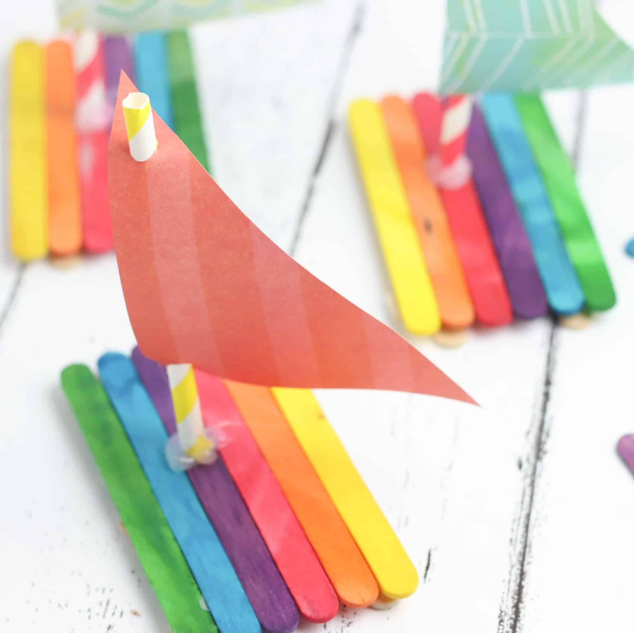 Preschool Boat Craft Using Popsicle Sticks The