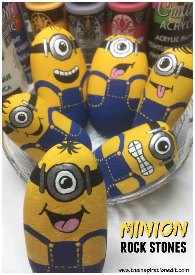 minionstones 1 1 - Minion Rock Painting By Babara Beal