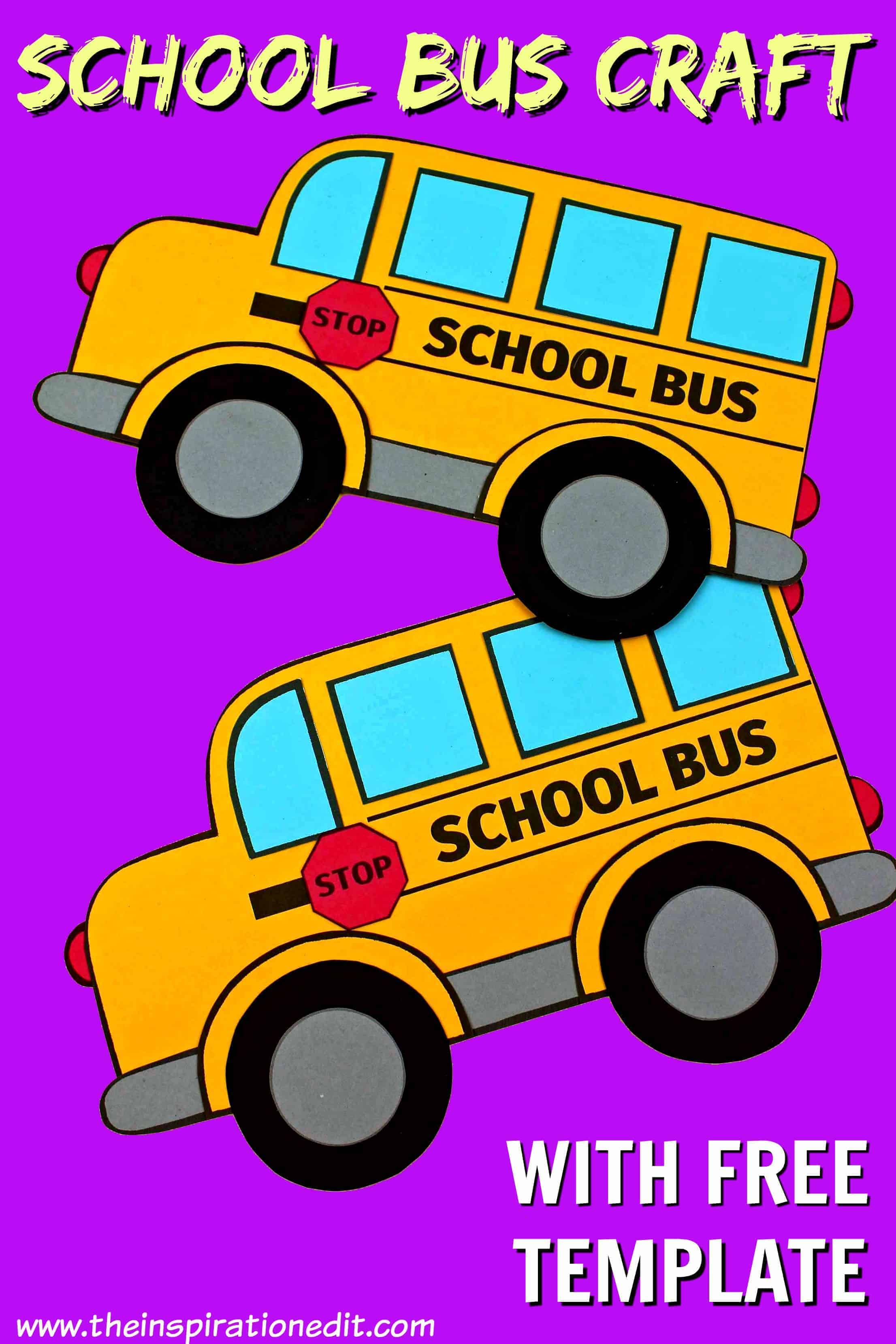 School Bus Template And Craft Idea For Back To School
