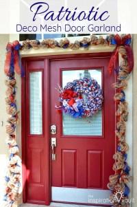 Garland Door & Front Door Christmas Garland Ideas Sc 1 St ...