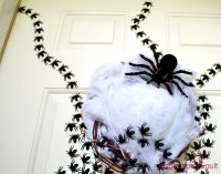 Ghastly Spider Egg Door Decoration - The Inspiration Vault