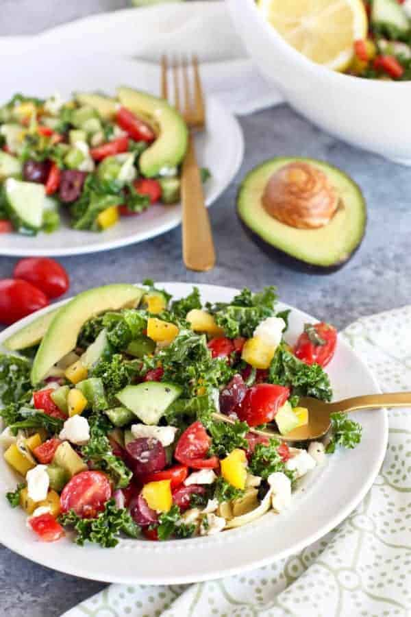 Instant-Pot-Greek-Kale-Salad-with-Avocado