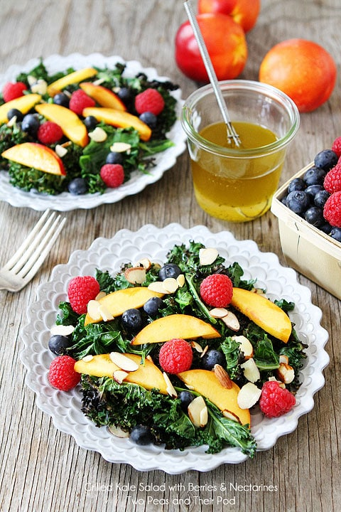 Instant-Pot-Grilled-Kale-Salad-with-Berries-Nectarines