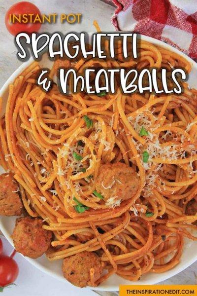Instant-Pot-spaghetti and meatballs