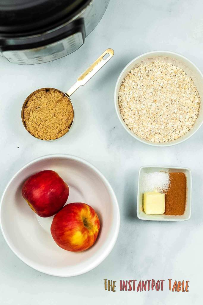 instant pot oatmeal ingredients