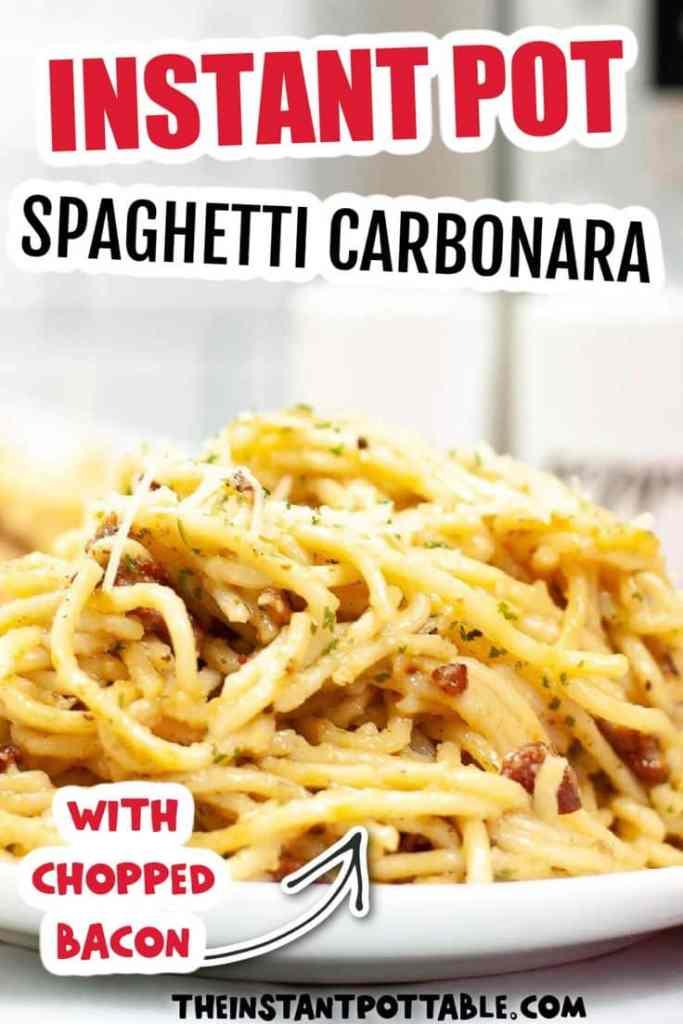 instant pot spaghetti cabonara
