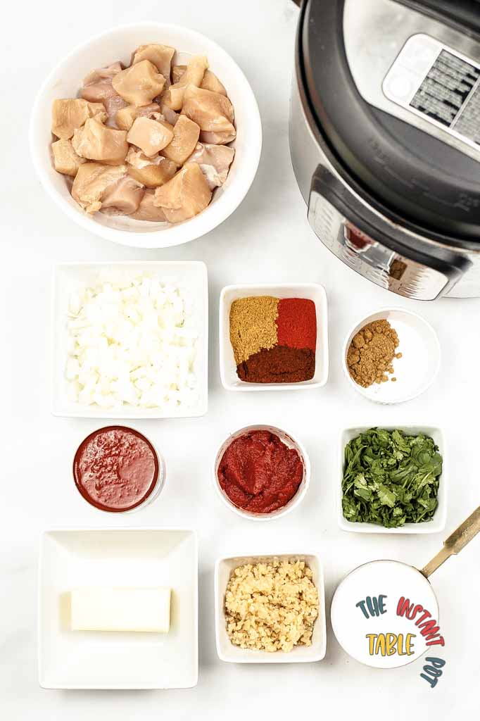 Instant Pot Butter Chicken Supplies