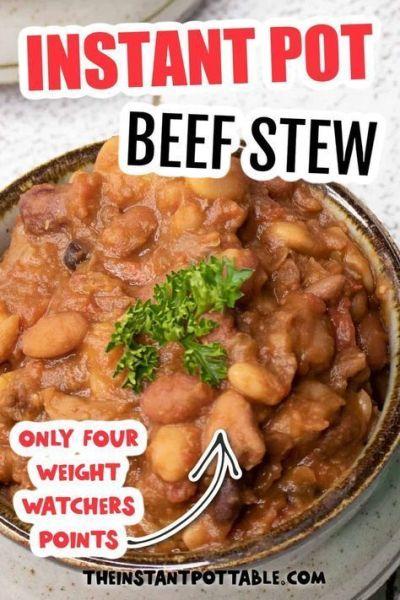 instant pot beef bean stew