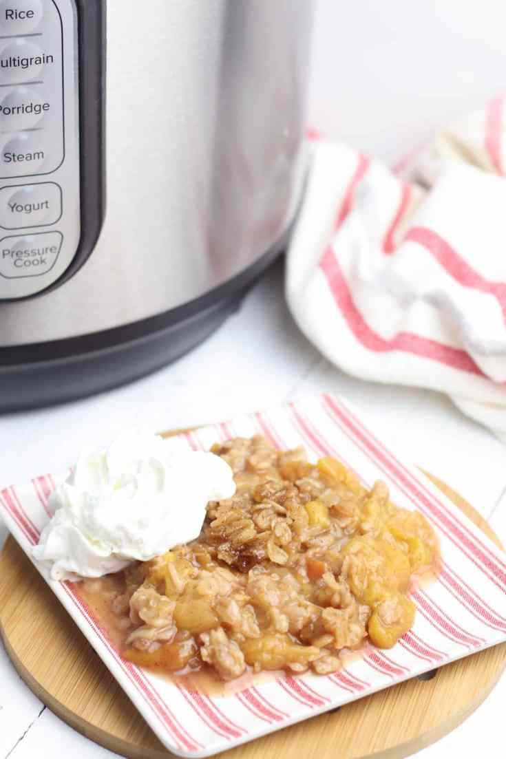 Instant Pot Peach Crisp recipe